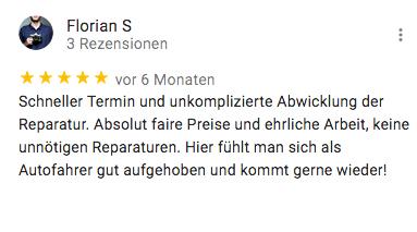 Rezension für KFZ Technik Fehl von Florian S.